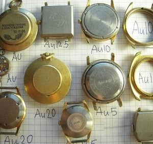 Корпуса часов и браслеты со знаком AU